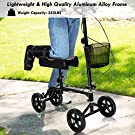 Giantex Folding Knee Scooter with Basket, Steerable Knee Walker Deluxe Crutch Alternative, Non-Slip Foam Knee Pad, Dual Braking System, Medical Knee Scooter Cycles for Foot Ankle Injuries #1