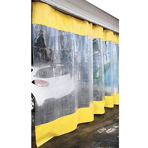 LSXIAO Al Aire Libre Impermeable Cortinas Transparente Lona Cubrir, Dividir Cortina, A Prueba De Polvo A Prueba De La Intemperie con Mosquetón De Metal para El Departamento De Limpieza