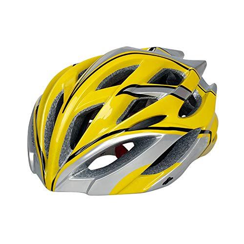 YUNDING Casco Ciclismo Casco de Bicicleta Ultraligero Fresco Cascos de Ciclismo Ajustables con luz Casco Ciclismo Capacete Ciclismo