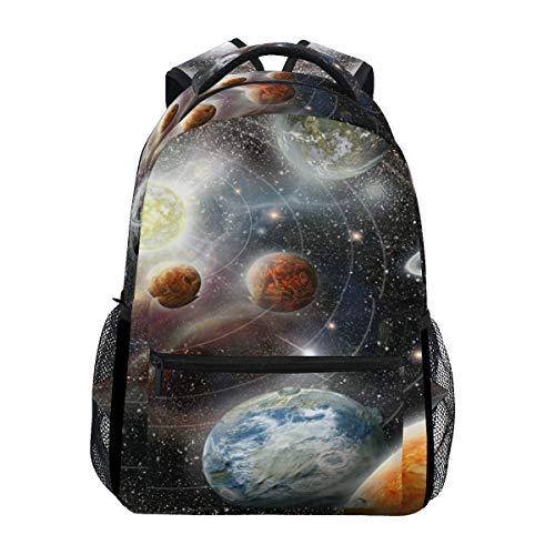 Mochilas escolares Alien Planet Star System in Space Mochila de estudiante grande para...