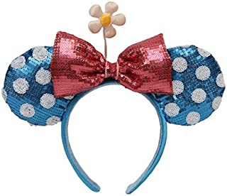 blue polka dot minnie mouse ears