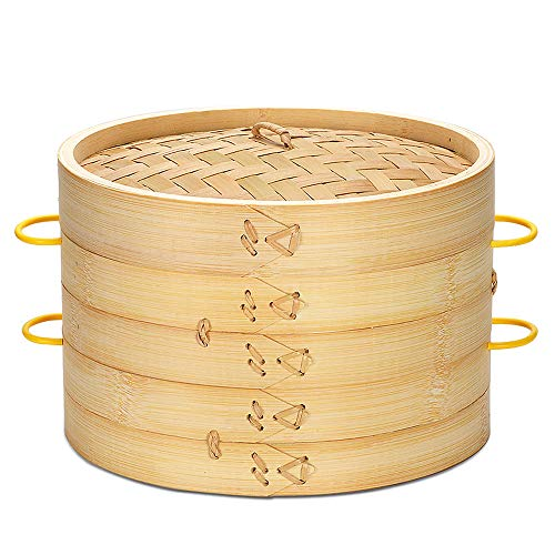 Bamboo Steamer 10 inch Handmade Bamboo Steamer Natural Bamboo Baskets healthy food cooking