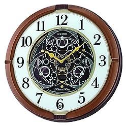 Seiko Mechanical Melodies in Motion Clock, Metallic Brown