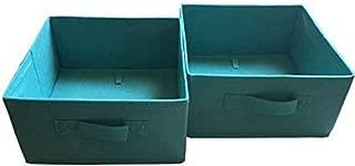 Mainstays. Collapsible Storage Bins 2 pack. Half-Size Color Aqua Ocean