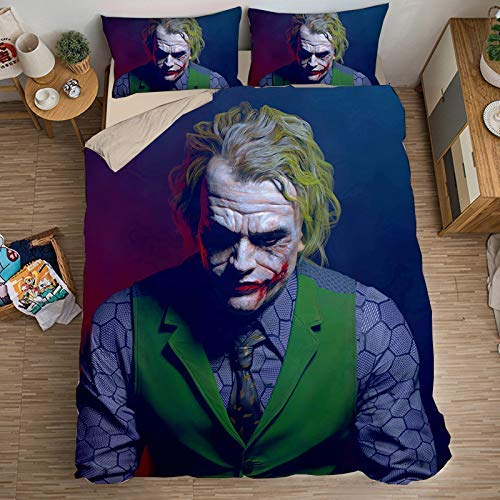 Duvet Cover Sets 3D It Printing Cartoon Bedding Set With Zipper Closure 100% Polyester Gift Duvet Cover 3 Pieces Set With 2 Pillowcases O-AU Queen83'*83'(210x210cm)