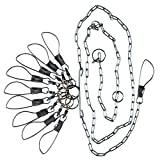 Lindy Chain Stringers - 9 Swiveled Moveable Snaps