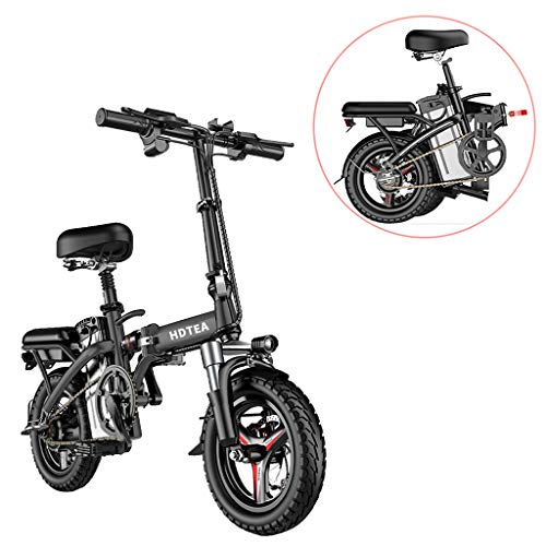 Folding Electric Bike 250W City Commuter Ebike 14 Inch Electric Bicycle with LCD Display Suitable for Adults and Teenagers