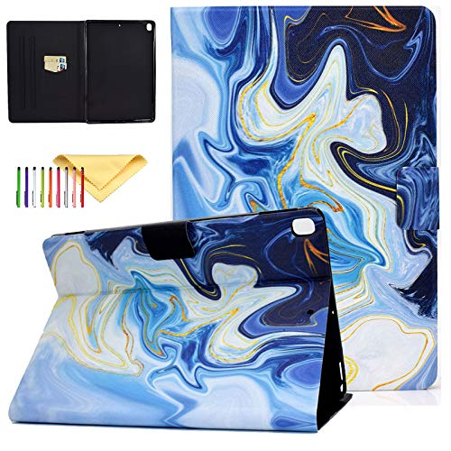Uliking Apple iPad 10.2 inch Case for iPad 8th Generation 2020 / iPad 7th Generation 2019, iPad 7 7th Gen iPad 8 8th gen Case, Ultra Slim PU Leather Folio Stand Smart Cases and Covers, Blue Marble