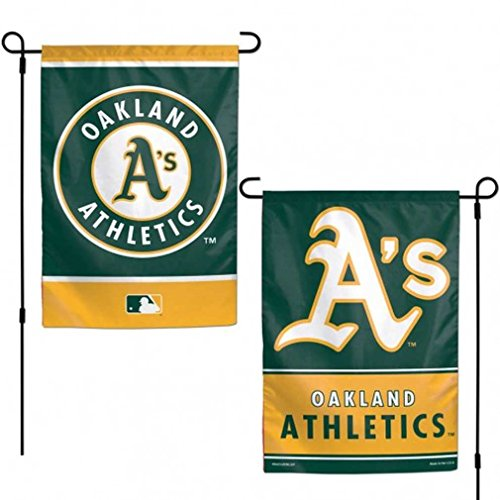 WinCraft MLB Oakland Athletics 12x18 Garden Style 2 Sided Flag, One Size, Team Color