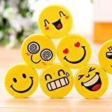 Nsquareshop Smiley Erasers for Birthday Return Gifts- Pack of 24