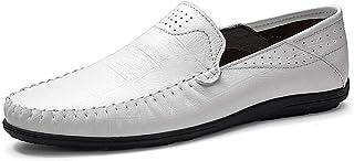 DADIJIER Mocassins de Conduite décontractée for Hommes Chaussures de Bateaux à Enfiler dans Un Cuir véritable Bout Rond en...