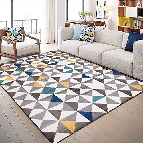 Alfombras Salon Grande Alfombra para Dormitorio Antideslizante Alfombra Grande Triángulo geométrico Simple...