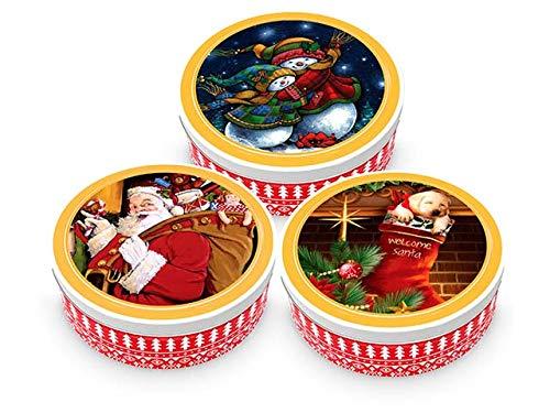 Becky's 1 x Danish Butter Cookies/Danés Butter Galletas – Pastel en lata de Navidad – 454 g