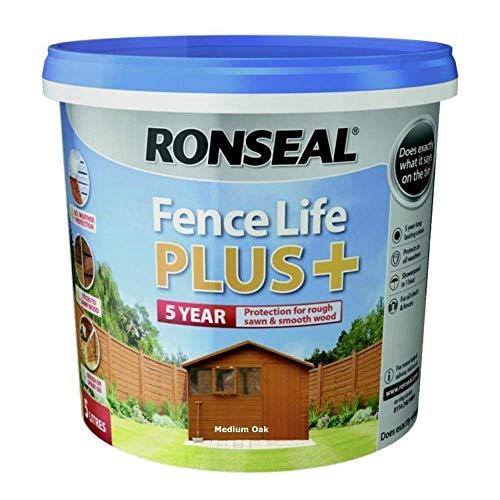 RONSEAL RSLFLPPMO5L 5 Litre Fence Life Plus Paint - Medium Oak