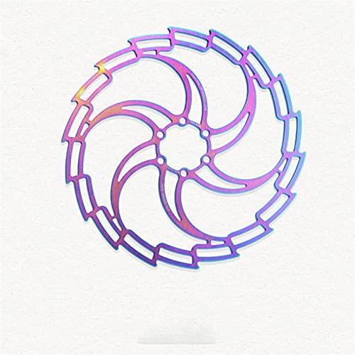 SZTUCCE Mountain Bike Frenos Disc 160/180 / 203mm CNC MTB Discos de Bicicleta Pads Color Color Color Mountain Bike Freno Freno Accesorios de Bicicleta (Color : 180mm)