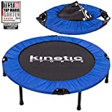 Kinetic Sports Fitness Trampolin, TOP Marke Testbild Auszeichnung!, Indoor Minitrampolin, Sprungtraining, Smart Jumping Workout, platzsparend faltbar, Ø 102cm, bis 100kg