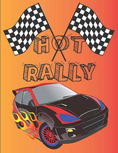 HOT RALLY: cars coloring book for kids and adults