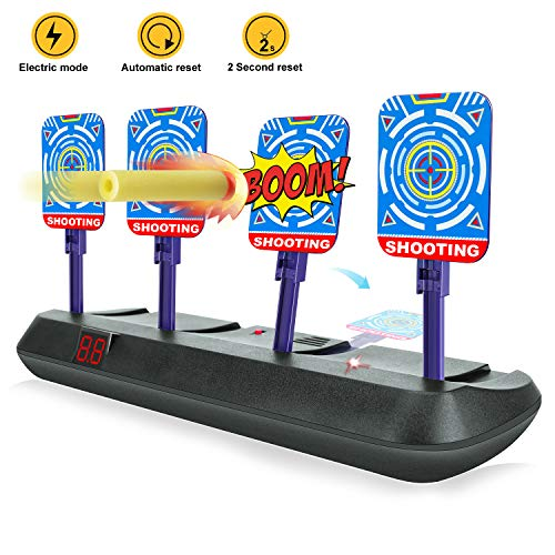 FREE TO FLY Shooting Target for Nerf Gun, Electronic Scoring Auto Reset Digital Targets, Shooting Digital Target Ideal Gift Toys for Boys and Girls
