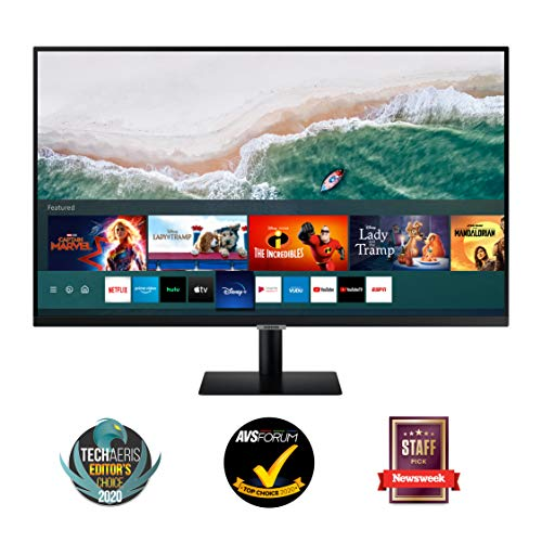 "Samsung Monitor M5 da 27"", 16:9, Full HD, Smart TV (Amazon Video, Netflix), Airplay e Mirroring, Office 365, Wireless Dex, Casse Integrate, WiFi, HDMI, USB, Bluetooth, No TV Tuner, Versione 2020"