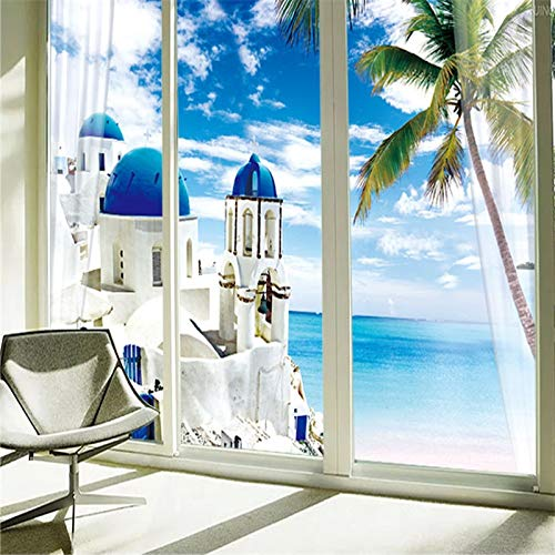 Apoart 3D behang glas lamineren badkamer balkon badkamer kleding kast verplaatsen deur venster papier. 300cmx210cm