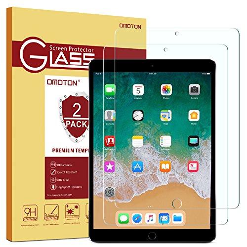 OMOTON [2 Stück] Panzerglas Schutzfolie für iPad 10.2 [2019]/ iPad Air 10.5 [2019]/ iPad Pro 10.5 [2017], 9H Festigkeit, Anti-Kratzen, Anti-Öl, Anti-Bläschen