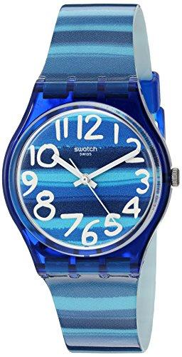 Swatch GN237 - Reloj de Pulsera Unisex, Plástico, Color Azul