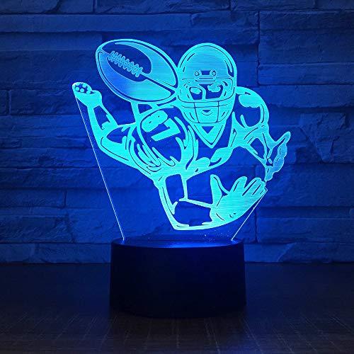 Rugby 3D LED luz de noche oficina bar dormitorio iluminación regalo de cumpleaños luz de noche creativa regalo de vacaciones decoración lámpara de mesa