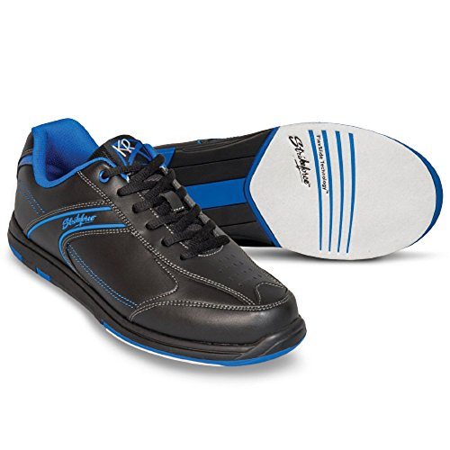EMAX KR Strikeforce Flyer Bowling-Schuhe Damen und Herren, für Rechts- und Linkshänder in 4 Farben Schuhgröße 38,5-48 mit gratis Schuh-Deo Titania Foot Care (Blau, US 9,5 (42))