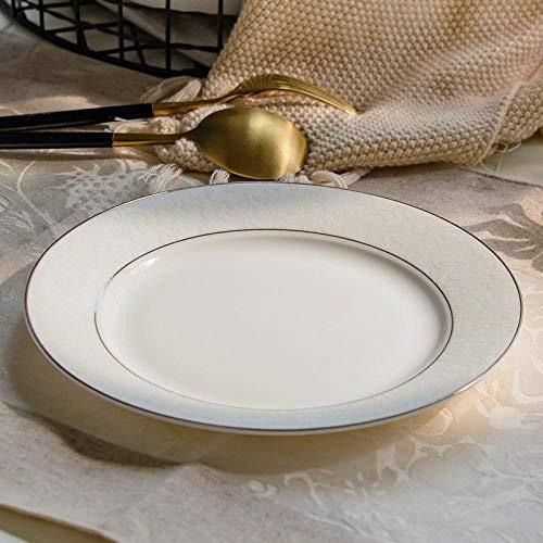 LXLN Pasta plaat, Huishoudelijke ronde keramische plaat, Western plaat, Chinese bot porselein bestek set,Keramische Salade/Voorgerecht Borden voor Huis en Keuken