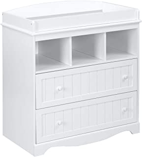 Meuble à langer avec 2 tiroirs et 3 étagères Blanc 93 x 50 x 88 cm
