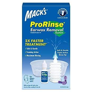 Mack s ProRinse Ear Wax Removal System - 0.5 FL OZ Ear Drops Ear Plugs Ear Wash Tub & Ear Syringe with Triple-Action Rinse Tip