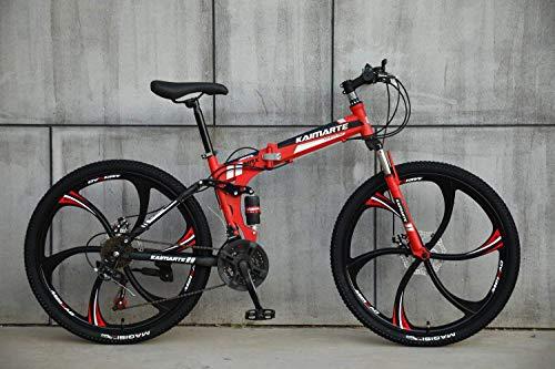 AUTOKS Multipliable Sports/VTT 24/26 Pouces 6 molettes, Rouge