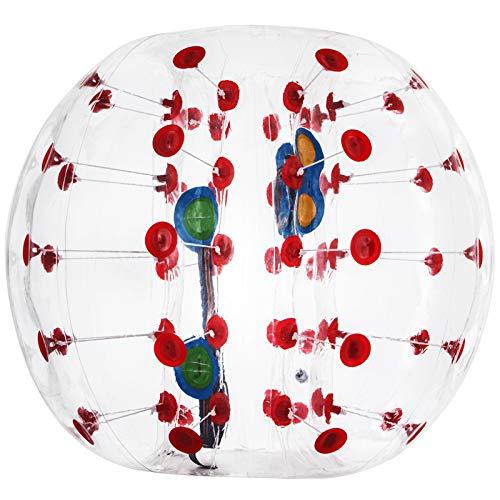 VEVOR Balle Pare Chocs Gonflable PVC 0,8mm Balle Gonflable Football de Diamètre 1,2m Balle Zorb Enfants 1-1,5m avec 2 Poignées 2 Ceintures Jouer au Parc...