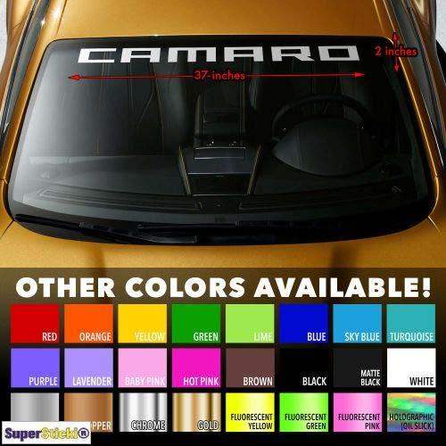SUPERSTICKI Camaro ca 80cm Frontscheibe Auto Decal Tuning Aufkleber