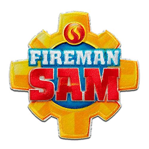 Feuerwehrmann Sam © Logo Wappen - Aufnäher, Bügelbild, Aufbügler, Applikationen, Patches, Flicken, zum aufbügeln, Größe: 7 x 7 cm