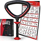GRAND BASICS Adjustable Kettlebell Handle for Plates - Comfort Non-Slip Grip Texture on Handle & Workout Guide Included - Convert Your Weight Plates Into Kettlebell - Perfect Budget Kettlebell Grip