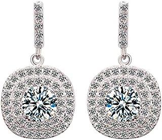 Crystal style Earring women's white gold plated Glisten Exquisite diamond drop Earrings Jin18 TM