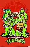 Trends International Wall Poster Teenage Mutant Ninja Turtles-Pizza, 22.375' x 34'