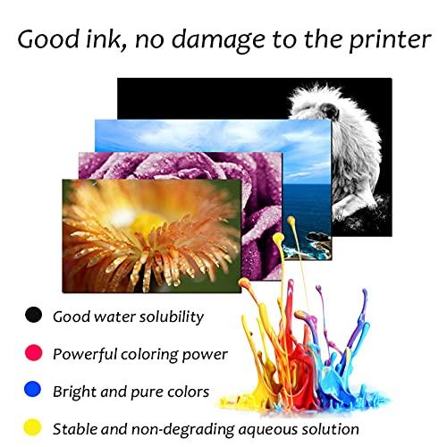 HLDC Reemplazo de Cartucho de Tinta Compatible para PG-835 CL-836 Alto Rendimiento Adecuado para Canon FAX JX200 201 300 500 Impresora (Volumen de Tinta de Pantalla),Negro