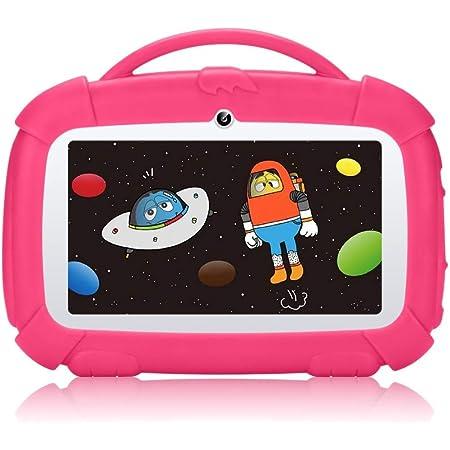 /écran HD 7 Pouces avec /étui en Silicone Quad Core, 8 Go, WiFi, Appareil Photo Avant Et Arri/ère,Play Store, Youtube, Android 4.4, Iwawa TOOGOO Tablette pour Enfants Bleu