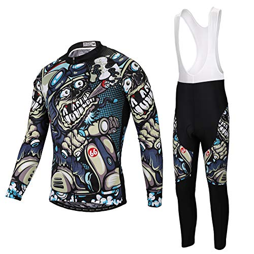 SKYSPER Maillot Ciclismo Hombres Jersey Mangas Largas Pantalones Largos Culotte...