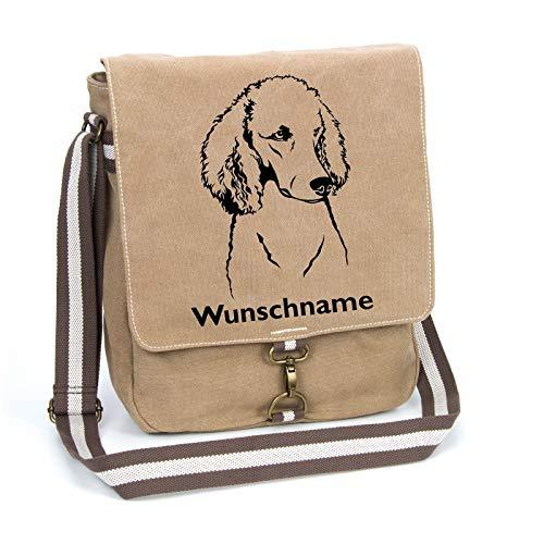 Pudel Löwenschur Schultertasche Umhängetasche Tasche mit Hundemotiv und Namen personalisiert
