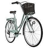 KS Cycling Damenfahrrad 28'' Stowage grün RH51cm