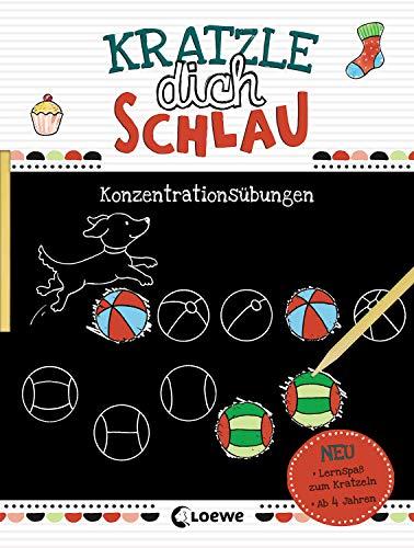 Kratzle dich schlau - Konzentrationsübungen: Lernspiele und Übungen für Kindergarten und Vorschule - Für Mädchen und Jungen ab 4 Jahre