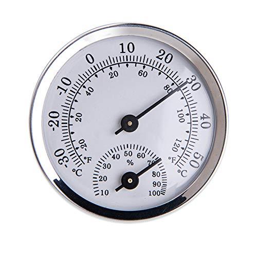 Termómetros E Instrumentos Meteorológicos,Higrómetro Termómetro Analógico - Termómetro De Interiores Y Medidor De Humedad En El Interior Para Un Control Del Clima Interior Fiable Y Cómodo,Sliver