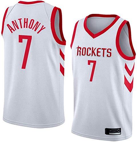 GLACX NBA Houston Rockets 7# Anthony (2 Estilo) Jersey clásico, Retro cómodo/Ligero/Transpirable Camisetas Deportivas de Malla Bordada, Fan para Unisex Swingman Jerseys,B,S