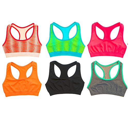 Alyce Intimates Girls Cotton Cropped Cami Training Bra Pack of 12