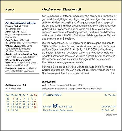 Harenberg Literatur – Kalender 2020 - 9