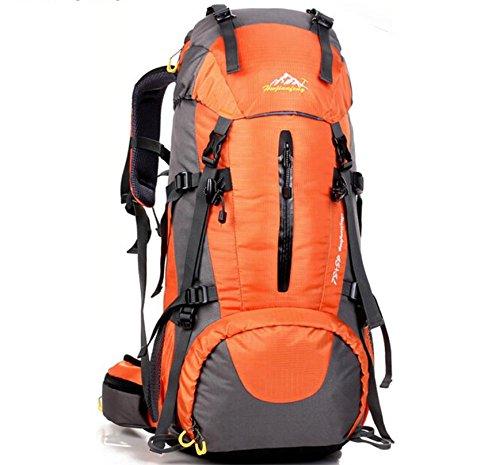 Alpinisme en plein air sac à dos sacs pour hommes et femmes 50L polyvalent sac à dos de randonnée sac à dos avec transport , green