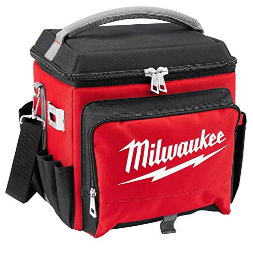 "Milwaukee Electric Tool 48-22-8250 Sided Jobsite Cooler, Polyester, 11.1"" x 13.77"" 14.96"" H, 3, 5 Pockets"